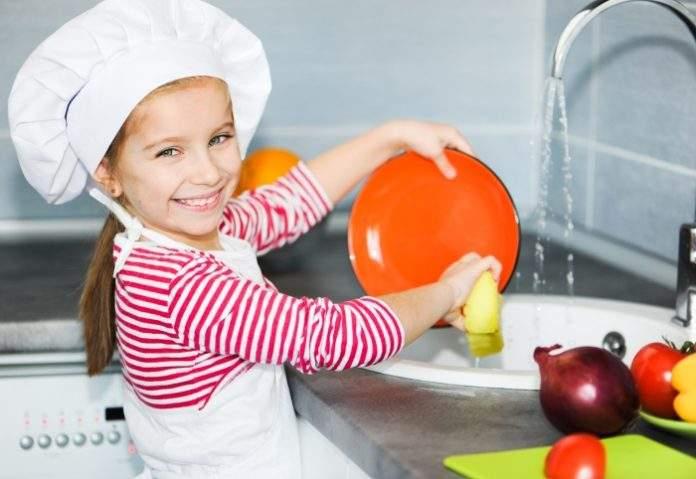 тратить время картинки дети моют посуду молодого